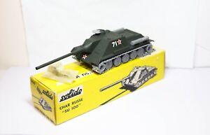 Solido No 208 Char Russe Su 100 Tank Model In Its Original Box - Very Near Mint