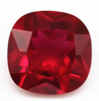 Ruby 4.8ct 10 x10 mm Cushion Cut Loose Stones  Very Best Quality Rich Red