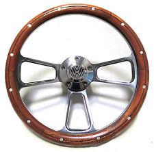 Volkswagen Steering Wheel Kit Billet & Mahogany 1960-73 VW Bug Beetle Ghia