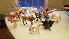 Lot of 11 Schleich Papo Fairies, Elves, Horses, Ogre, Merlin Fantasy, Mythical