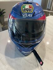 AGV K3 SV GUY MARTIN Pink/Blue IOM TT Skull Motorcycle Helmet ML Medium Large