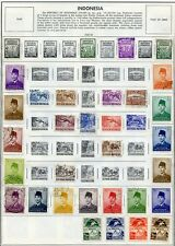 INDONESIA--Collection of 208 stamps on Minkus Pages