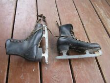 Vintage Children Imperial Tempered Steel Skate Shoes good for decor only