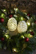 SIRIUS * Weihnachtsdeko * CARMEN CONE mini Set mit 2 Tannenzapfen LED