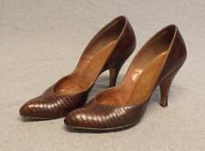 Vtg 40's Delmanette Exotic High Heal Sorrentoe Pumps women's 7Aa