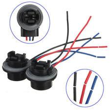 2Pcs 3157 3156 Bulb Socket Turn Signal Light Harness Wire Plug Adapter Free Ship