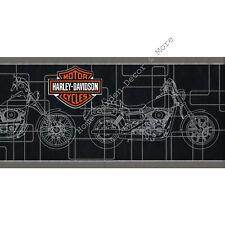 Genuine Harley Davidson Motorcycles Bike Black Silver Wallpaper Border Rare 01A