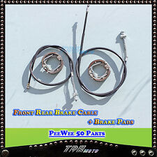 YAMAHA PW50 FRONT REAR BRAKE CABLE/LINE  BARKE PADS SHOES Y-ZING PEEWEE 50