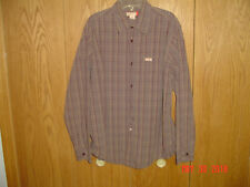 Men's GUESS Plaid Checkered Long Sleeve Shirt Size Large FC424