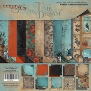 """12"""" x 12"""" scrapbooking paperpad cardstock Time to Dream 10 sheets 190gsm"""