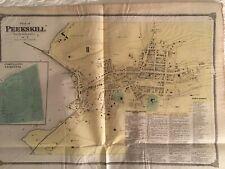Plan of Peekskill 1867 Steel Engraved Map by F.W. Beers