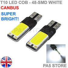 2x T10 48-SMD COB LED 501 W5W CANBUS XENON WHITE SIDE REVERSE LIGHTS BULBS 6000K