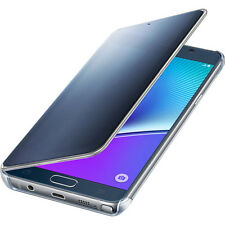 ORIGINAL SAMSUNG Galaxy Note 5 S-View Flip Cover Folio Case Clear Black Sapphire