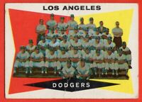 1960 Topp #18 Dodgers Team GOOD CREASE Sandy Koufax Don Drysdale Duke Snider