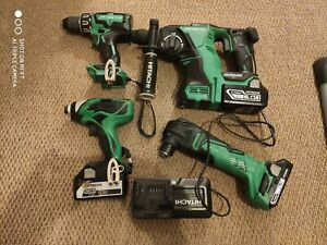 Hitachi 18v bundle drill ,impact, SDS , multitool with batteries and charger