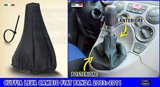 Cuffia cambio Panda leva marce Fiat Panda 2003 > 2012 cuffie simil pelle grigio