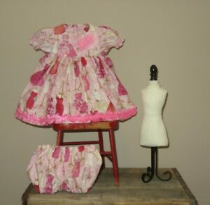 "Handmade Doll Clothes for 20"" - 22"" Baby Dolls - ""My Dress Closet"" Dress Set"
