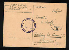 Feldpost II. WK - PK 1942 von FP-Nr. 07805 E nach Adelsberg - Briefstempel