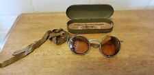 VINTAGE WILSON STEAMPUNK SERVICE GOGGLE WITH TIN CASE