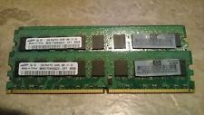 HP 4GB 2x 2GB PC2-6400E DDR2 ECC Unbuffered UDIMM 800MHz 2Rx8 445167-061