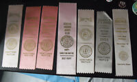 Lot of 7 Vintage 1950s AKC Boxer Club Dog Award Winner Ribbons