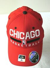 Adidas Chicago Basketball NBA Bulls Mens Structured Hat Cap Red Size L/XL NWT