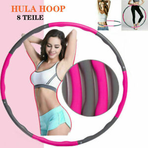 8 knots Collapsible Weighted Hula Hoop Fitness Gym Workout Exercise ABS Circle