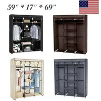 Waterproof Portable Wardrobe Clothes Armoire Closet Storage Shoe Rack Shelf Home