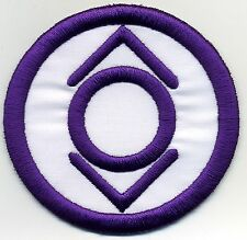 """5"""" Indigo Tribe Lantern Corps Classic Style Embroidered Iron-On Patch"""
