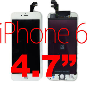 """███ WHITE NEW iPhone 6 *SIX* 4.7"""" Front LCD Screen Glass Digitizer Assembly ███"""