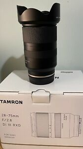Tamron 28-75mm F2.8 Di III RXD Sony E-mount lens - Excellent condition