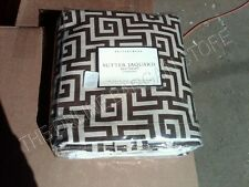"Pottery Barn Pb Sutter Jacquard Geo Bed Skirt Dust Ruffle Full Brown 14"" Drop"