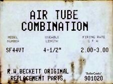 4 1/2 inch BECKETT BLAST TUBE SF44VT AND ASSEMBLY for AF/AFG/SR BURNER 901020