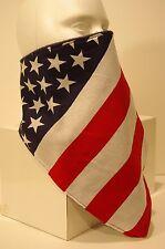 U.S. Flag stripes fleece lined bandana motorcyle skiing face mask