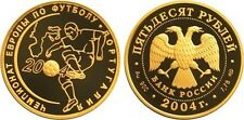 50 Rubel Russland PP 1/4 Oz Gold 2004 European Football Championship Portugal Pf