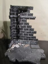 action figure wall base stand display black white brick wall mouse