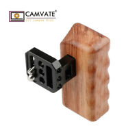 """CAMVATE Left Wooden Handle Grip 1/4""""-20 thread Mount for Camera DSLR Video Cage"""
