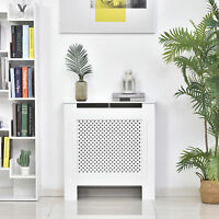 HOMCOM Radiator Cover Solid MDF Small Sized White Modern Home