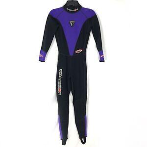 Henderson USA Youth Wetsuit Long Sleeve Back Zip Jumpsuit Purple Black Size 4