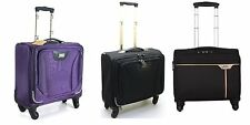 "17"" 4 Wheeled Spinner Laptop Trolley Office Cabin Business Case Briefcase Bag"