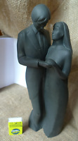 Bone China Collection of Hand Made Sculptures ROYAL DOULTON Forver Yours black