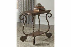 Signature Design by Ashley - Rafferty Traditional Chairside End Table Dark Brown