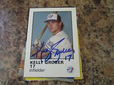 1987 TORONTO BLUE JAYS FIRE SAFETY KELLY GRUBER AUTOGRAPHED CARD