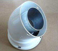 UBBINK 0224050 Coude 45° DIAM. 80/125 GAZ ALU/PVC BLANC
