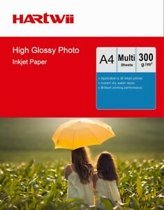 A4 300Gsm Thick High Glossy Photo Paper Inkjet Paper Printer 100-1000 Sheets