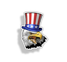 Uncle Sam Eagle Sticker America Patriotic USA Car Bumper Window Decal Cup Laptop