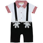 Newborn Baby Boy Xmas Halloween Mickey Mouse Romper Gentleman Outfit Clothes Set