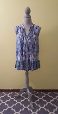 NWT BEACH LUNCH LOUNGE PATTERNED TUNIC. size XS. Tassles detailing