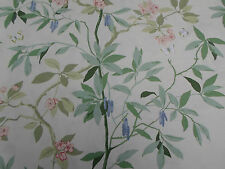 Sanderson Curtain Fabric 'Cherry Bough' Rose/Cream 2.3 METRES - Maycott Prints