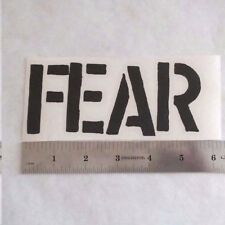 FEAR Vinyl DECAL STICKER BLK/WHT/RED Punk Rock BAND Logo Window Guitar LP